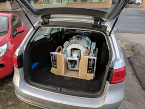 Success, R2D2 is in the car!